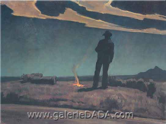 Maynard Dixon, Roadside Fine Art Reproduction Oil Painting