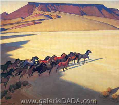 Wild Horses of Nevada - Maynard Maynard, Fine Art Reproduction Oil Painting