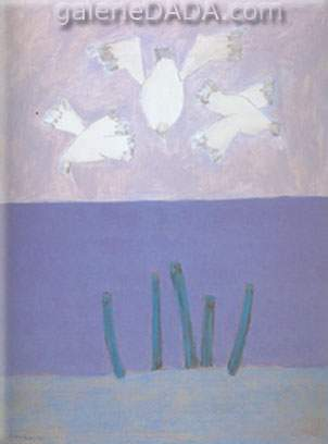 Milton Avery, Birds over Sea Fine Art Reproduction Oil Painting