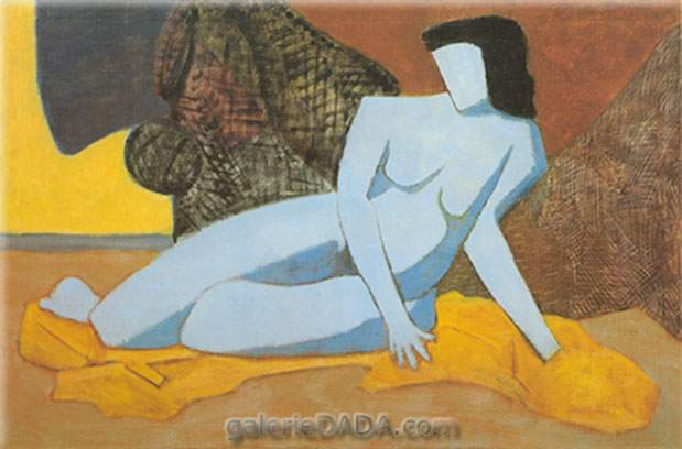 Milton Avery, Blue Nude Fine Art Reproduction Oil Painting