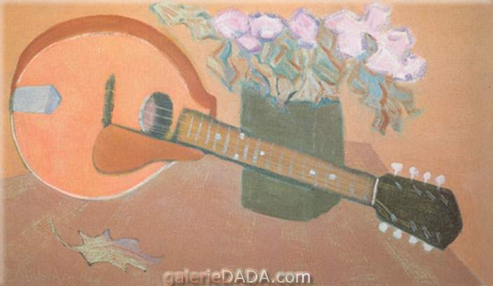 Milton Avery, Mandolin with Flowers Fine Art Reproduction Oil Painting
