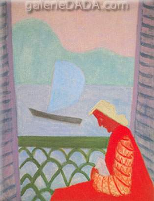 Milton Avery, March on Balcony Fine Art Reproduction Oil Painting
