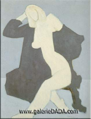 Milton Avery, Nude in Black Robe Fine Art Reproduction Oil Painting