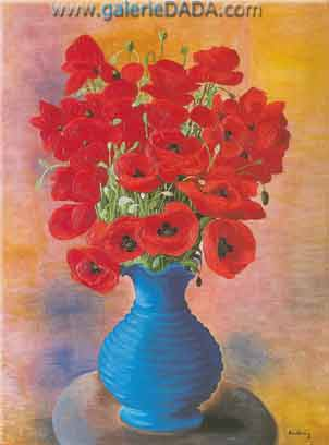 Moise Kisling, Coquelicots Fine Art Reproduction Oil Painting