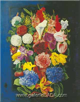 Moise Kisling, Flowers Fine Art Reproduction Oil Painting