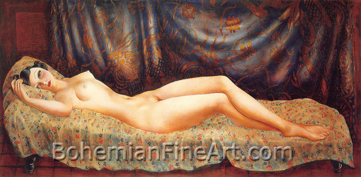 Moise Kisling, Nude of Arletty Fine Art Reproduction Oil Painting