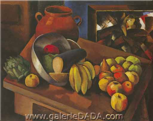 Moise Kisling, Still Life with Fruit Fine Art Reproduction Oil Painting