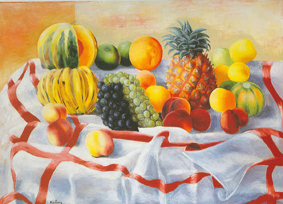 Moise Kisling, Still Life with Fruit (2) Fine Art Reproduction Oil Painting