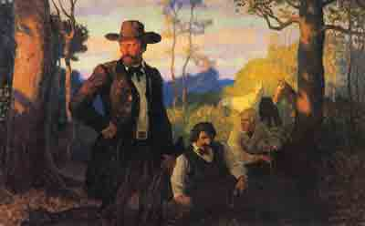 N.C. Wyeth, The James Brothers in Missouri Fine Art Reproduction Oil Painting