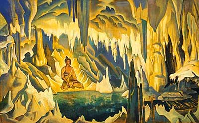 Nicholas Roerich, Buddha, the Conqueror Fine Art Reproduction Oil Painting