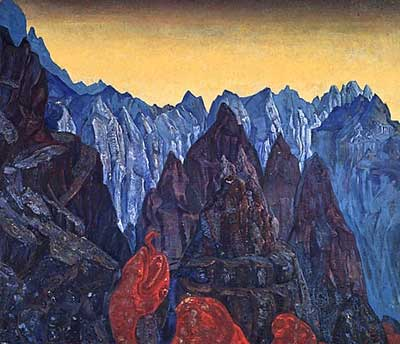 Nicholas Roerich, Cry of the Serpent Fine Art Reproduction Oil Painting