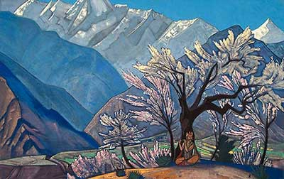 Nicholas Roerich, Krishna Fine Art Reproduction Oil Painting