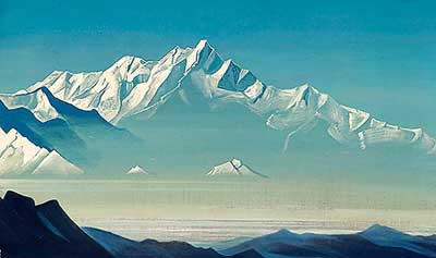 Nicholas Roerich, Mount of Five Treasures Fine Art Reproduction Oil Painting