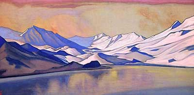Nicholas Roerich, Mountain Lake. Baralacha Pass Fine Art Reproduction Oil Painting