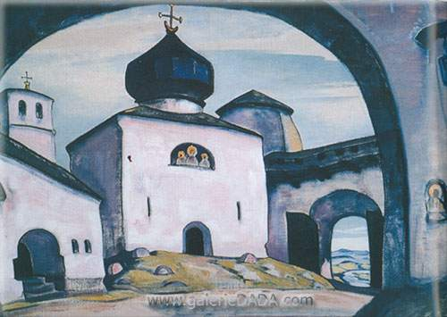 Nicholas Roerich, Old Pskov Fine Art Reproduction Oil Painting