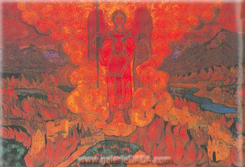 Nicholas Roerich, The Last Angel Fine Art Reproduction Oil Painting