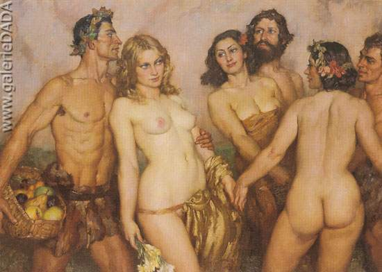 Norman Lindsay, Springs Innocence Fine Art Reproduction Oil Painting