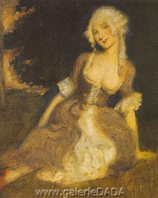 Norman Lindsay, The Shepherdess Fine Art Reproduction Oil Painting
