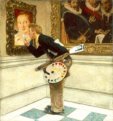 Norman Rockwell, The Art Critic Fine Art Reproduction Oil Painting