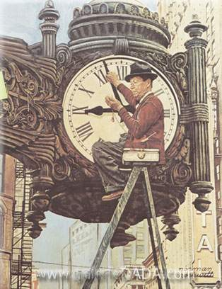 Norman Rockwell, The Clock Mender Fine Art Reproduction Oil Painting