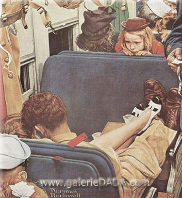 Norman Rockwell, Voyeur Fine Art Reproduction Oil Painting