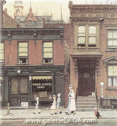 Norman Rockwell, Walking to Church Fine Art Reproduction Oil Painting