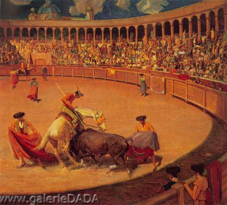 Bullfight Mexico - Oscar Oscar, Fine Art Reproduction Oil Painting