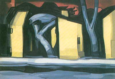 Oscar Bluemner, A Situation in Yellow Fine Art Reproduction Oil Painting