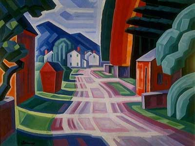 Oscar Bluemner, Form and Light Beattiestown Fine Art Reproduction Oil Painting