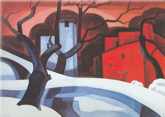 Oscar Bluemner, Red and White Fine Art Reproduction Oil Painting