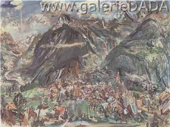 Oscar Kokoschka, Montana Fine Art Reproduction Oil Painting