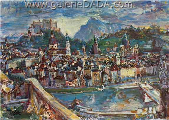 Oscar Kokoschka, Salzburg Fine Art Reproduction Oil Painting