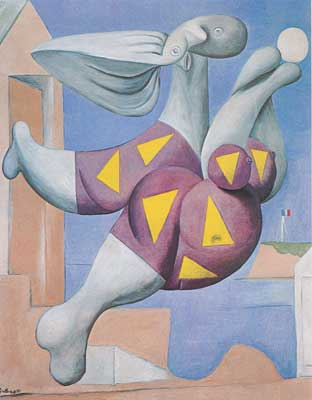 Pablo Picasso, Bather with a Ball Fine Art Reproduction Oil Painting