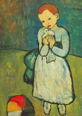 Pablo Picasso, Child with a Dove Fine Art Reproduction Oil Painting