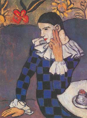 Pablo Picasso, Harlequin Fine Art Reproduction Oil Painting