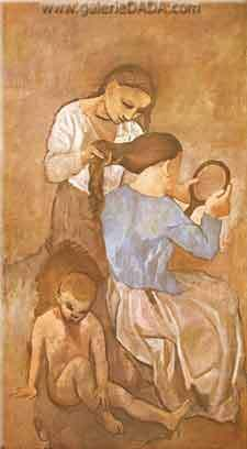 Pablo Picasso, La Coiffure Fine Art Reproduction Oil Painting