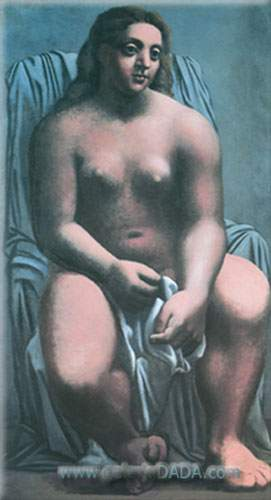 Pablo Picasso, Large Bather Fine Art Reproduction Oil Painting