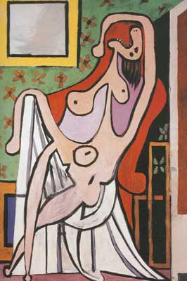 Pablo Picasso, Large Nude in a Red Armchair Fine Art Reproduction Oil Painting