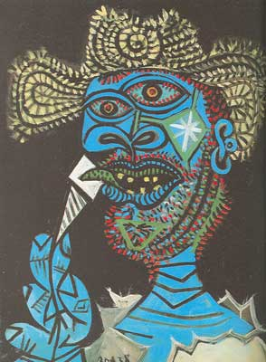Pablo Picasso, Man in a Straw Hat Fine Art Reproduction Oil Painting