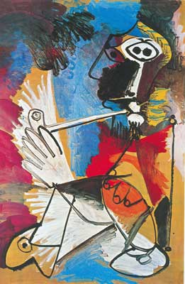 Pablo Picasso, Man with a Pipe Fine Art Reproduction Oil Painting
