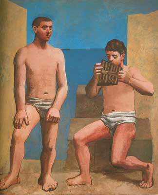 Pablo Picasso, Pan Pipes Fine Art Reproduction Oil Painting