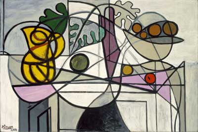 Pablo Picasso, Pitcher and Fruit Bowl Fine Art Reproduction Oil Painting