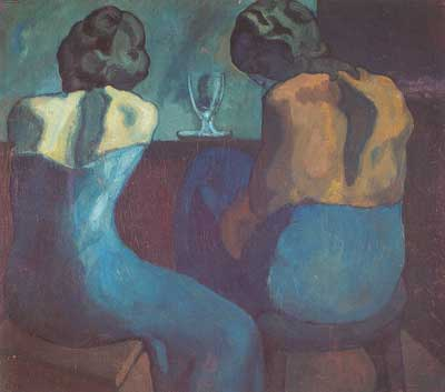 Pablo Picasso, Prostitutes at a Bar Fine Art Reproduction Oil Painting