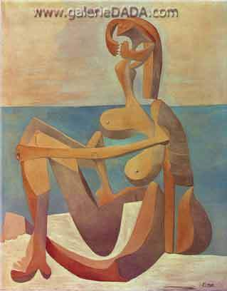 Pablo Picasso, Seated Bather Fine Art Reproduction Oil Painting