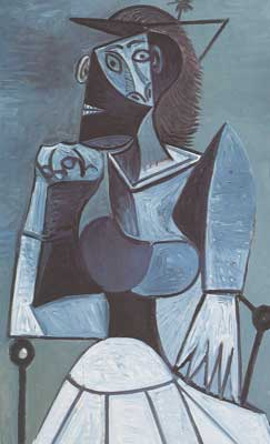 Pablo Picasso, Seated Woman Fine Art Reproduction Oil Painting