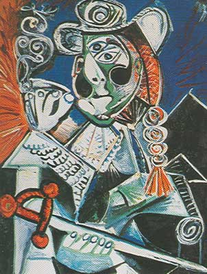 Pablo Picasso, Smoker with a Sword Fine Art Reproduction Oil Painting
