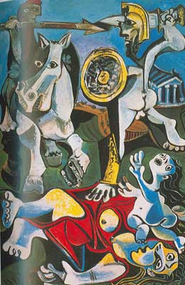 Pablo Picasso, The Abduction of the Sabine Women Fine Art Reproduction Oil Painting