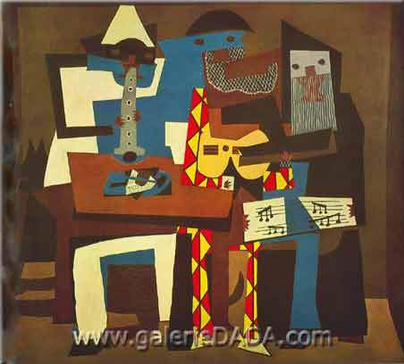 Pablo Picasso, Three Musicians Fine Art Reproduction Oil Painting