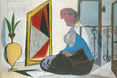 Pablo Picasso, Woman at the Mirror Fine Art Reproduction Oil Painting