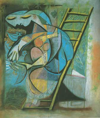 Pablo Picasso, Woman with Pigeons Fine Art Reproduction Oil Painting